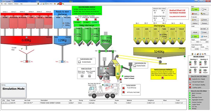 Concrete Batching Plant Software From Basford Plant Ltd